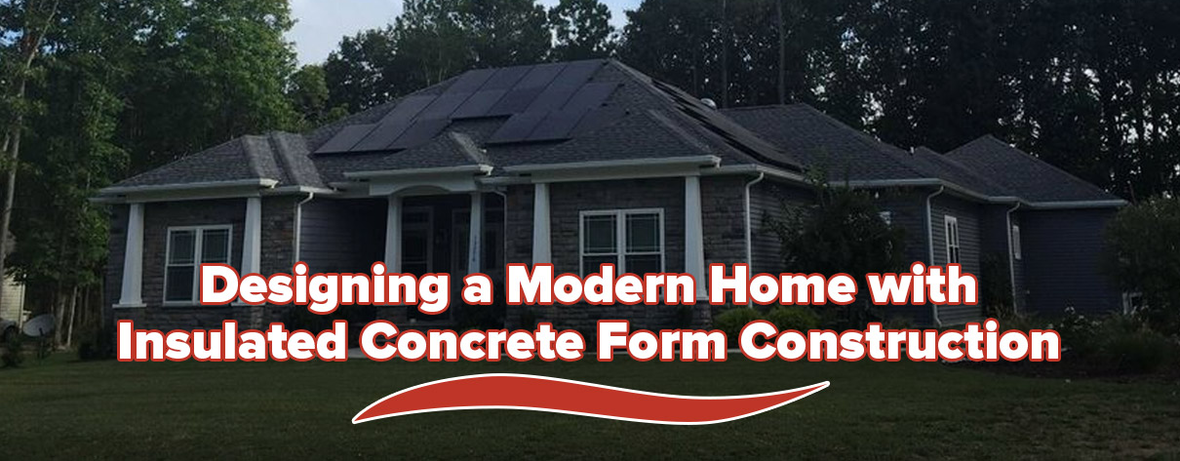 Modern Home Insulated Concrete Form Header 1n